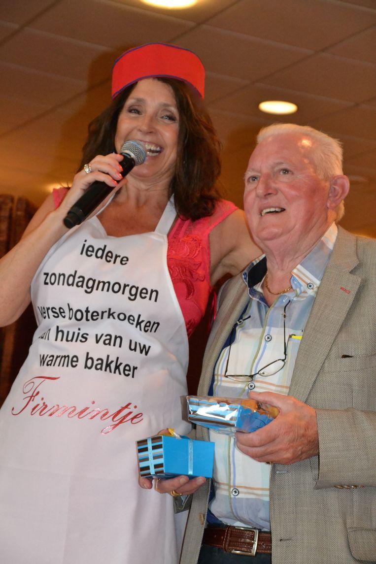 'Firmintje' bij zijn grote idool, Wendy Van Wanten.
