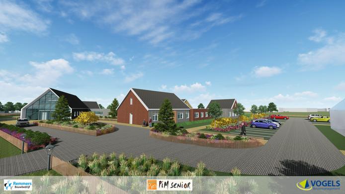 Zo komt het woonzorgcomplex eruit te zien bij stichting Pim in Dorst.
