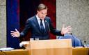 Demissionair premier Mark Rutte tijdens een debat in de Tweede Kamer over het toeslagenrapport en het opstappen van het kabinet.
