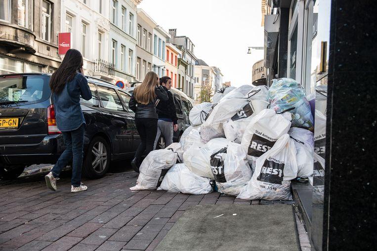 Illustratiebeeld: Vuilniszakken in Antwerpen.