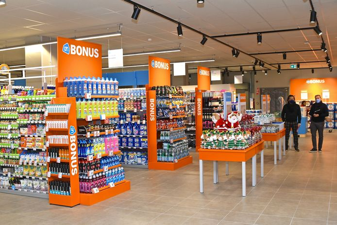 Een blik in de nieuwe supermarkt.