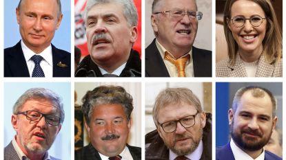 """Zeven kandidaten strijden vandaag om presidentschap tegen Poetin: """"Kansloos maar niet betekenisloos"""""""