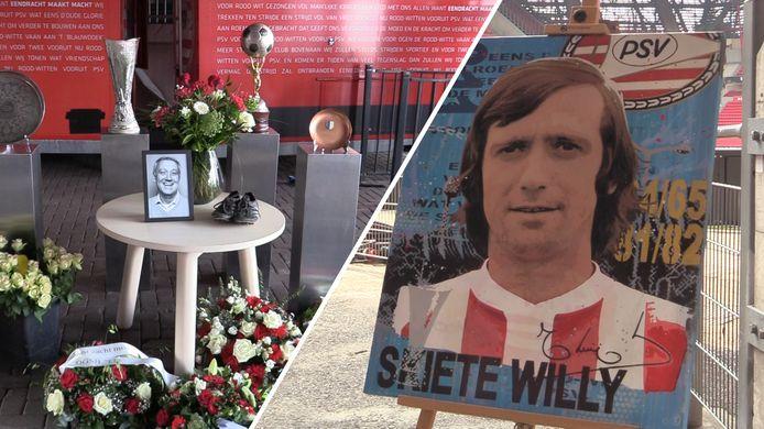 Momenteel is er een eerbetoon voor PSV-legende Willy van der Kuijlen in het Philips Stadion.