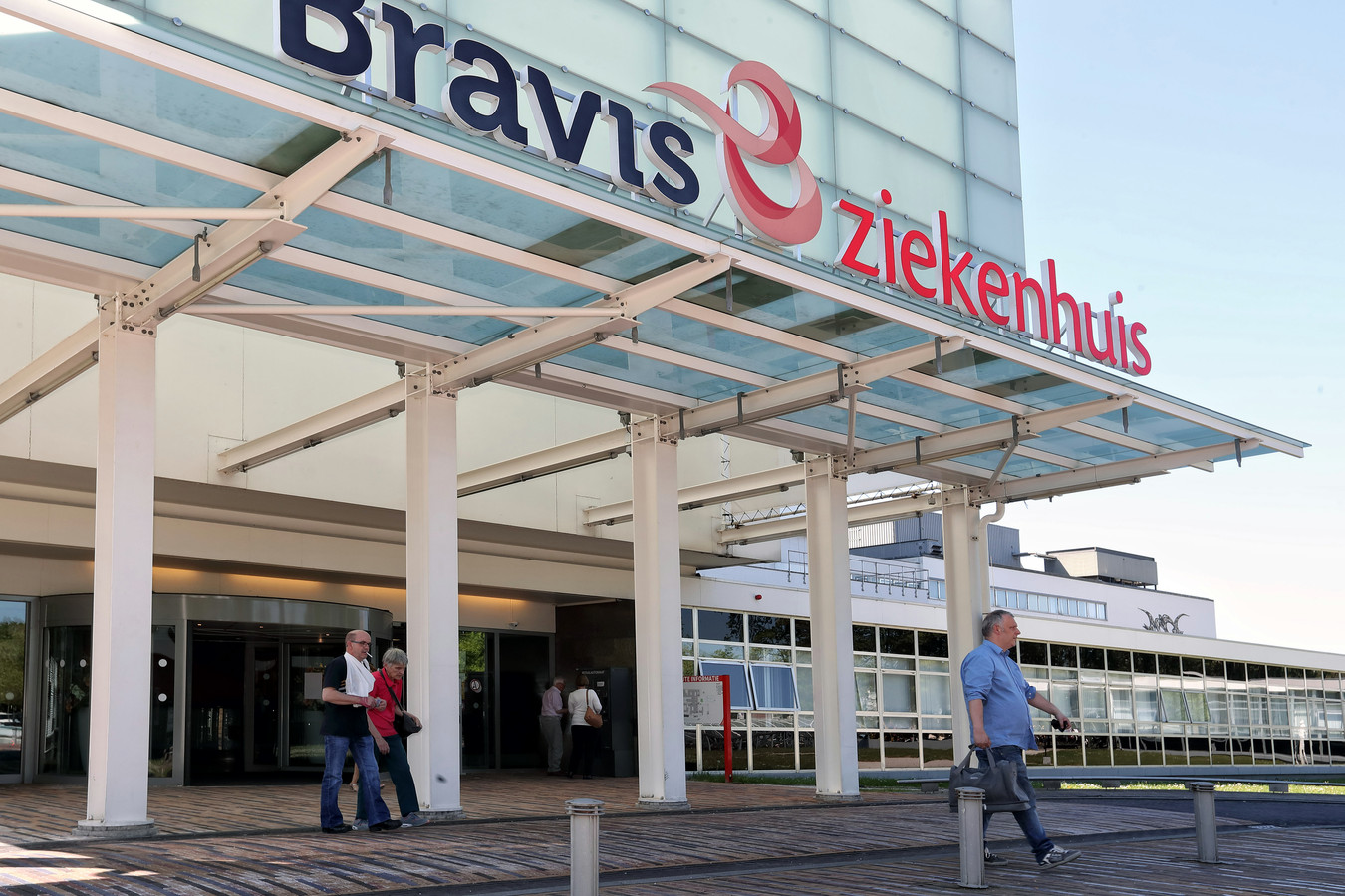 De ingang van het huidige Bravis ziekenhuis in Bergen op Zoom. De nieuwbouw komt in Roosendaal en moet medio 2026 open.