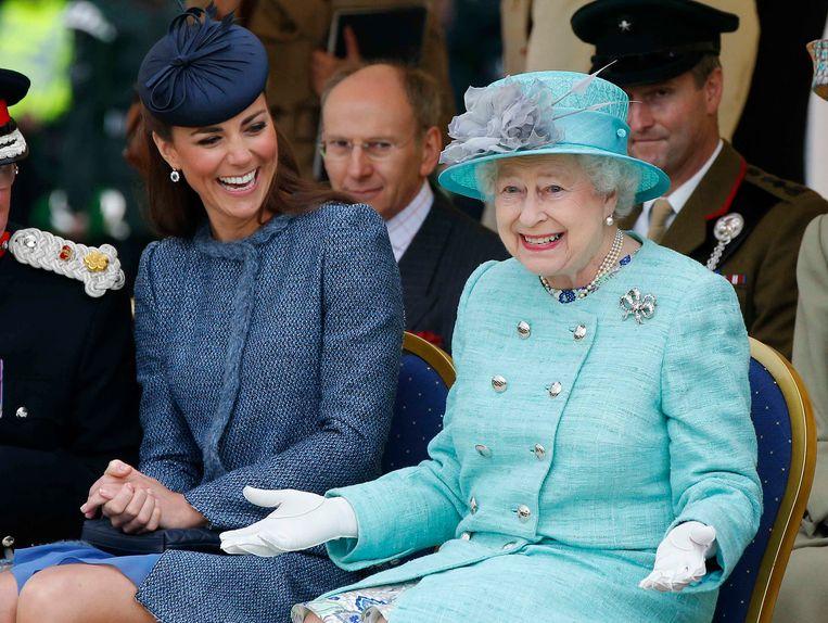Kate Middleton en Queen Elizabeth Beeld Getty Images