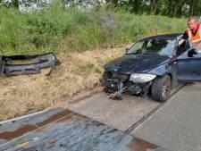 File op A1 bij Hengelo door ongeval: automobilist meegenomen naar politiebureau