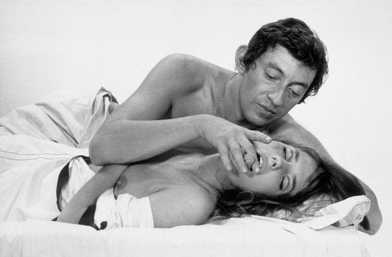 Serge Gainsbourg en Jane Birkin Beeld Corbis via Getty Images