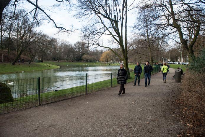 Het Stadspark in Antwerpen.
