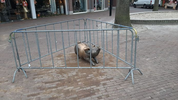 Het varkentje is terug op het Walplein