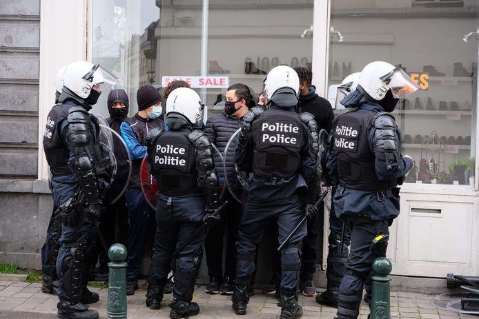 """Manifestation contre la """"justice de classe"""" à Bruxelles, le 24 janvier dernier."""