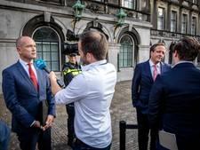 Onderhandelaars formatie praten met burgemeesters grote steden