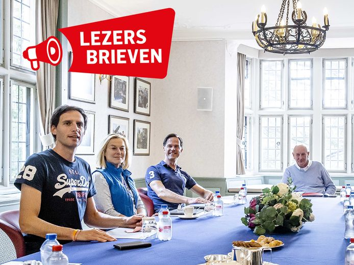 Wopke Hoekstra (CDA), Sigrid Kaag (D66), Mark Rutte (VVD) en informateur Johan Remkes.
