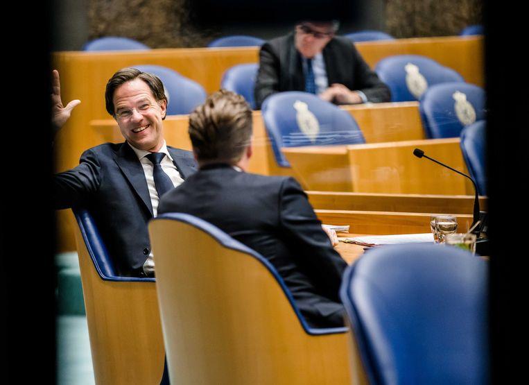 Mark was Rutte was gauw klaar met het beantwoorden van vragen aan zijn adres. Beeld ANP