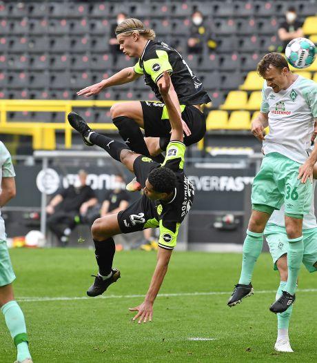 Haaland na zeven duels zonder goal weer op schot voor Borussia Dortmund