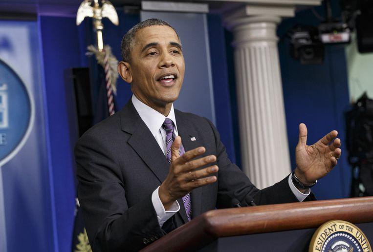 De Amerikaanse president Barack Obama