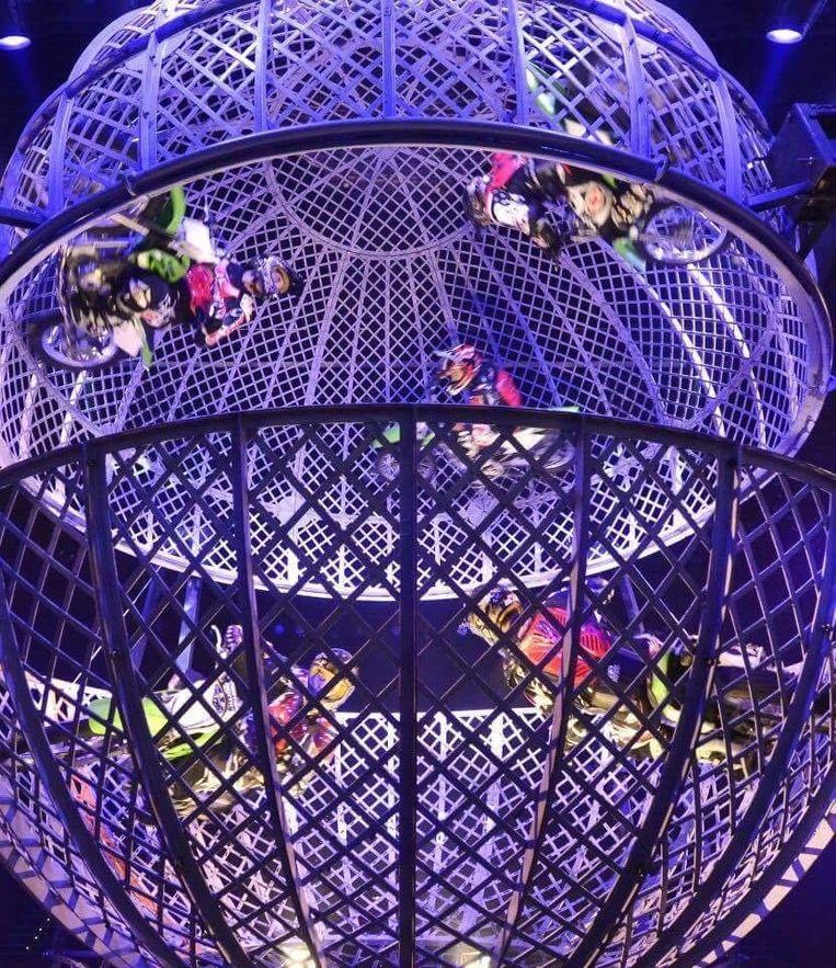 De act 'Globe of Death'. Beeld