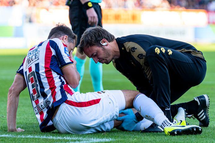 Freek Heerkens tijdens de thuiswedstrijd tegen PSV.