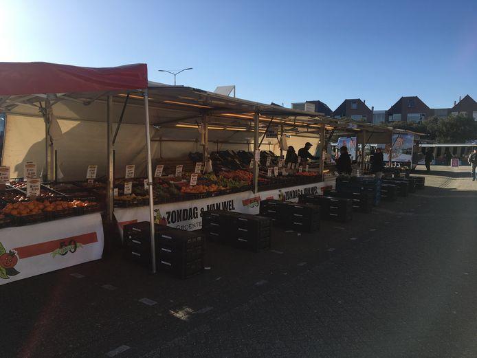 Het is heel rustig op de markt in Oss.
