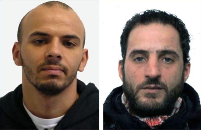 Oualid Sekkaki en Baghat Abderrahim. Beeld Politie Turnhout