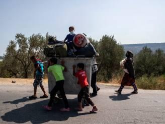 Driekwart migranten uit kamp Moria verplaatst naar nieuwe opvangplaats