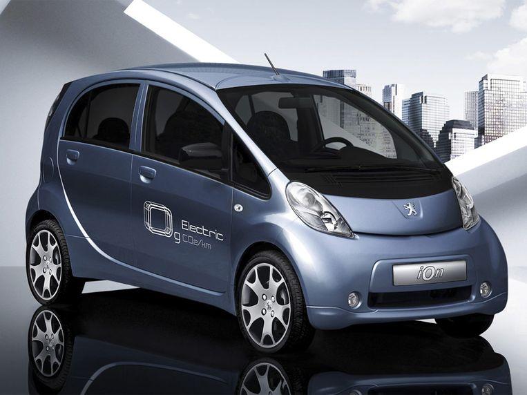 De overheid selecteerde vier elektrische wagens voor de groepsaankoop: hier de Peugeot iOn.