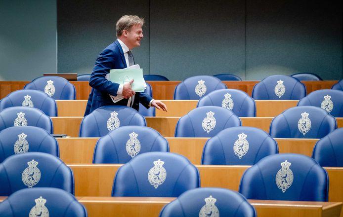 Pieter Omtzigt (Groep Omtzigt) in de Tweede Kamer.