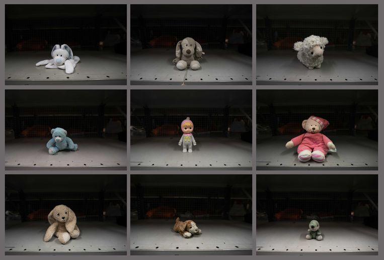 Verloren voorwerpen in het depot van de NS. De NS probeert tijdens de zesde editie van de Week van de verloren knuffel kinderen te herenigen met hun in de trein of op het station achtergelaten knuffel.  Beeld ANP
