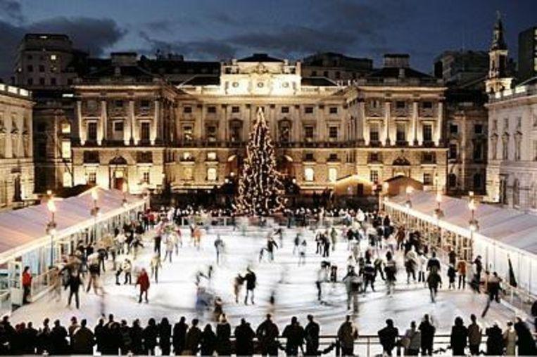 De feeërieke schaatsbaan van Somerset House Beeld UNKNOWN