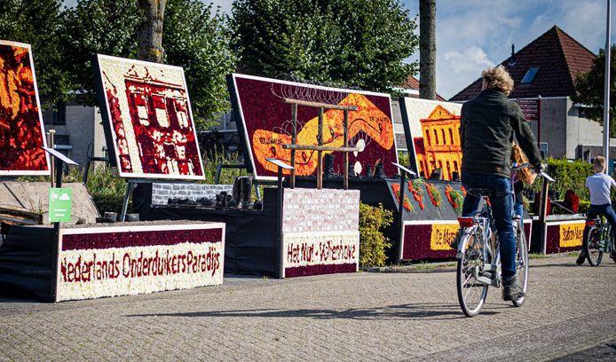 Dahliakunstwerken in Vollenhove, vorig jaar al het alternatief voor het afgelaste bloemencorso.