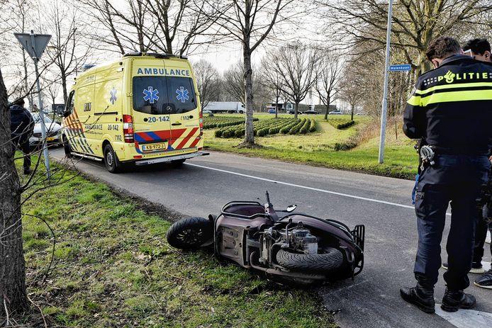 Scooter botst tegen boom in Oisterwijk