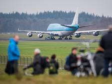 Vandaag geen Boeing 747 laag over Apeldoorn om slecht weer