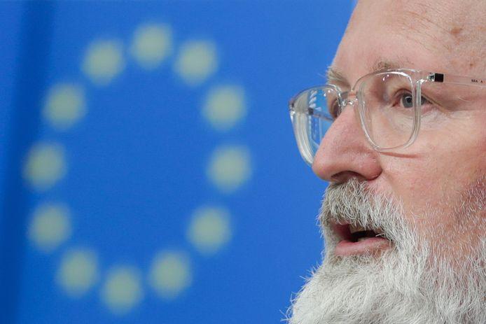 Frans Timmermans, vice-president van de  Europese Commissie.