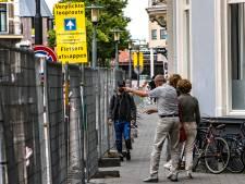 Stadsentree Keizerstraat Deventer lege zandvlakte in bouwvakvakantie