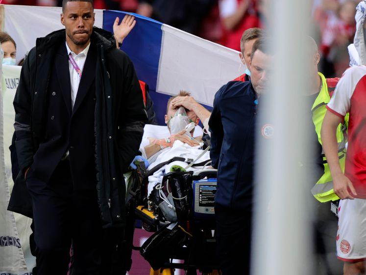 Eriksen kan weer praten na reanimatie en wordt uitgeroepen tot 'Man van de Match'