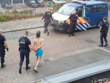 Politie pakt naakte onruststoker op die rondzwaaide met wapen