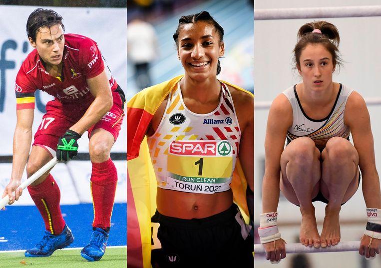 De Red Lions, Nafi Thiam en Nina Derwael behaalden goud in Tokio. Beeld BELGA/Photo News