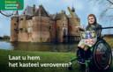Ridder Thijs en kasteel Ammersoyen spelen de hoofdrol in de campagne om zeven kastelen in Gelderland rolstoelvriendelijker te maken.