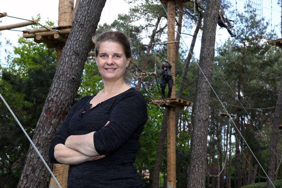 Klaudi Asbreuk kwam samen met haar dochters en echtgenoot klimmen.