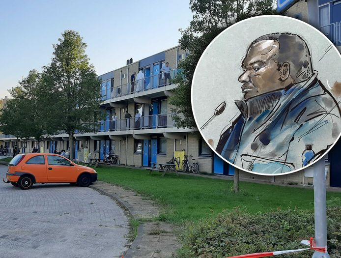 Verdachte Edward A. wordt beschuldigd van doodslag op 'buurman Joop' die een burenruzie probeerde te sussen.