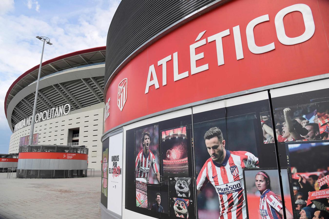 Wanda Metropolitano, het stadion van Atlético Madrid.