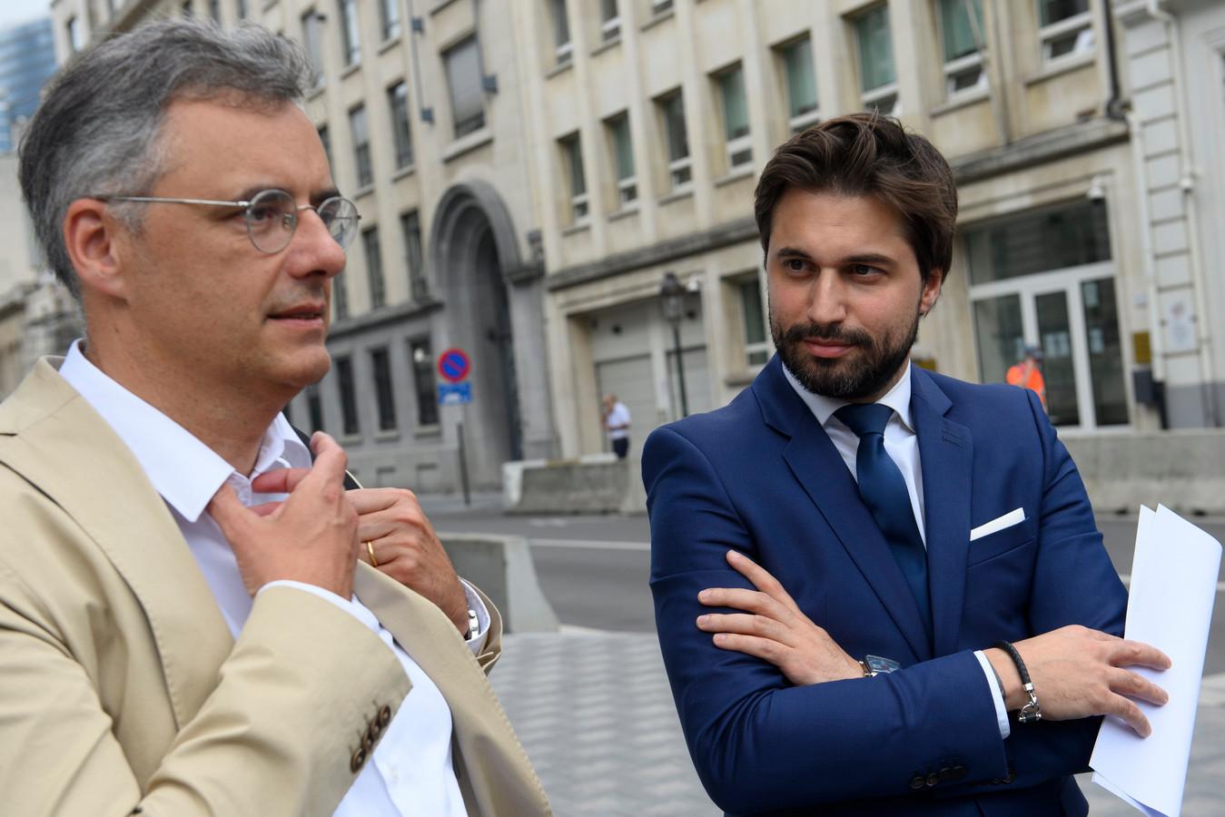 Joachim Coens (CD&V) en Georges-Louis Bouchez (MR). (17/06/2020)