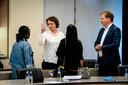 Renske Leijten (SP) en Pieter Omtzigt (CDA) brachten de toeslagenaffaire aan het licht, maar verschillen van mening over welke politieke consequenties het keiharde rapport van de parlementaire ondervragingscommissie moet hebben.