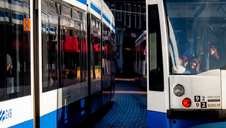 Tram 13 rijdt om vanwege een aanrijding Beeld anp