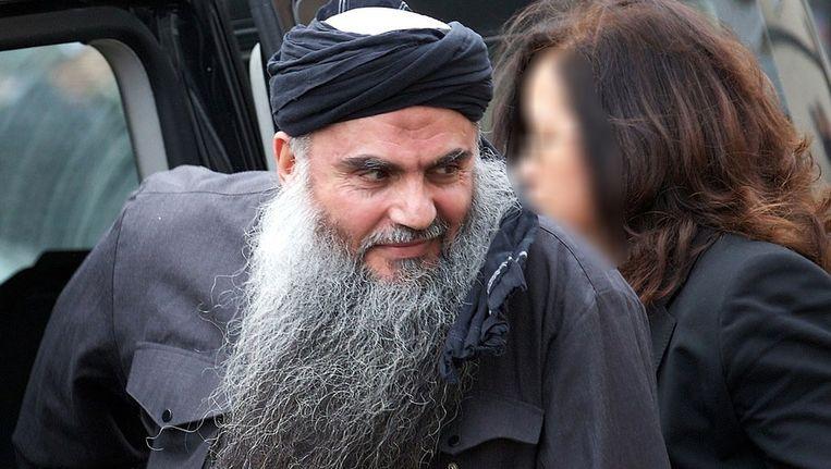 De radicale moslimgeestelijke Abu Qatada. Beeld AFP