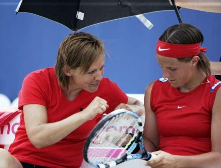 Fed Cup-coach Sabine Appelmans heeft veel vertrouwen in Kirsten Flipkens en co. Beeld UNKNOWN