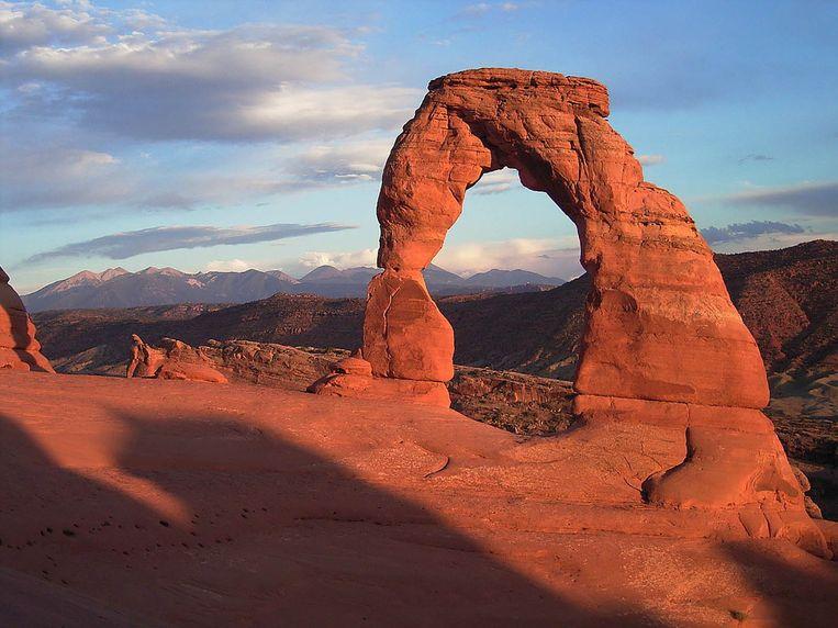 Delicate Arch, een van de fragiele trekpleisters van het Nationale Arches-park in Utah. Beeld Wikimedia Commons / Palacemusic