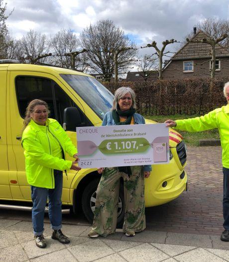 Anne-Marie van Orsouw uit Heesch, zelf ongeneeslijk ziek, maakt drie ritten voor de WensAmbulance mogelijk