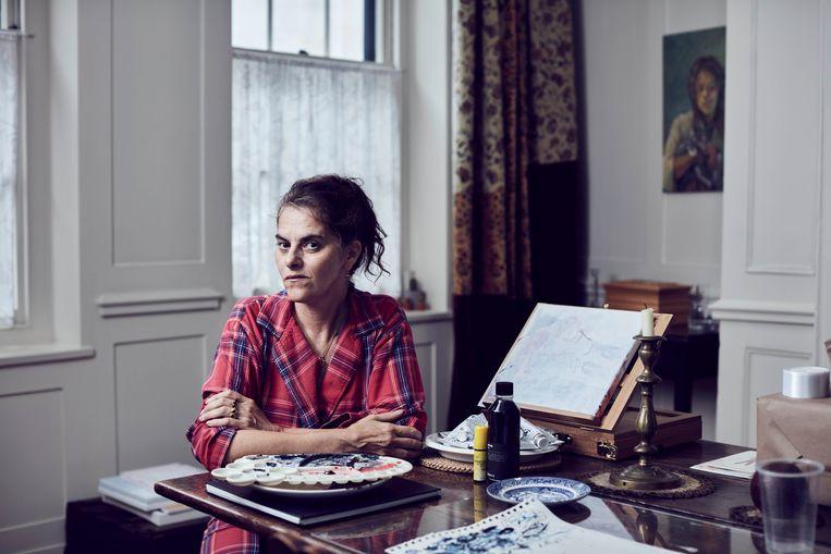 Tracey Emin: 'Toen Londen zo stil was, was dat heel goed voor mijn schilderen.' Beeld Alun Callender / The Sunday Times Magazine