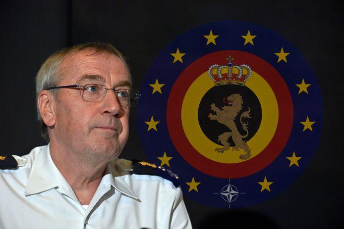 Le chef de l'armée belge, l'amiral Michel Hofman.
