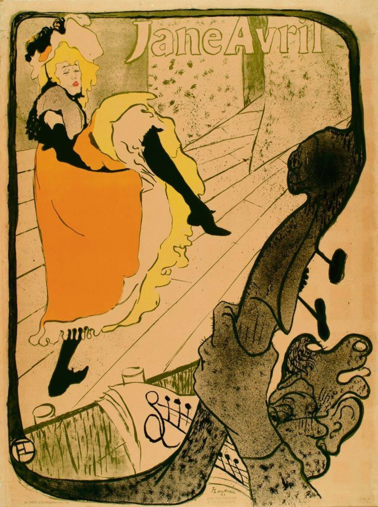 Jane Avril was een van die bekend geworden danseressen. Zij was zelf een hysteriepatiënt in het Salpêtrière. Henri de Toulouse Lautrec tekende haar in 1893. Beeld